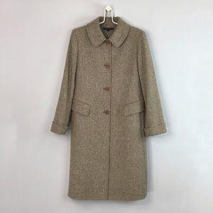 Lafayette 148 Wool Silk Blend Reefer Coar
